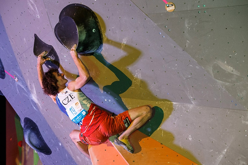 Volumes and double dynos dominate the comp scene today. Photo via Marco Kost / Planet Mountain
