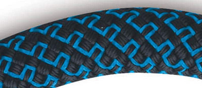 The Mammut Finesse, with its Double Twist sheath construction: a 4-strand x 4-strand braid.