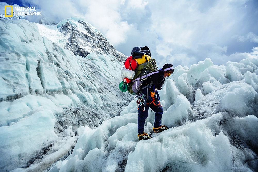 Photo by Aaron Huey/National Geographic Climbing Sherpas are part guide, part porter, part personal assistant, part coach, and part guardian.